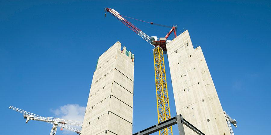 Hochhaus im Bau
